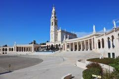 De Portugese stad van Fatima stock afbeeldingen