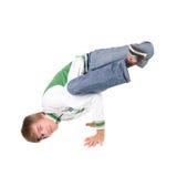 De positie van Breakdancing Stock Afbeeldingen