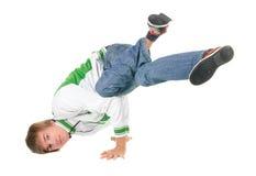 De positie van Breakdancing Stock Foto's