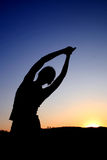De positie van de yoga Royalty-vrije Stock Fotografie