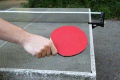 De positie van het pingpong Stock Afbeeldingen