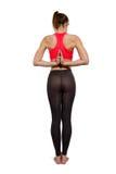 De positie van yogaasana Stock Afbeelding