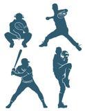 De posities van het honkbal Stock Fotografie