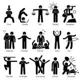 De positieve Trekken Clipart van het Persoonlijkhedenkarakter stock illustratie
