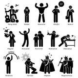 De positieve Trekken Clipart van het Persoonlijkhedenkarakter Royalty-vrije Stock Afbeeldingen