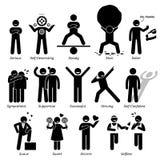 De positieve Trekken Clipart van het Persoonlijkhedenkarakter Stock Fotografie