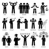 De positieve Trekken Clipart van het Persoonlijkhedenkarakter Stock Foto's