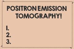 De Positronemissietomografie van de handschrifttekst Concept die Gebroken techniek betekenen van de Nucleaire geneeskunde de func vector illustratie