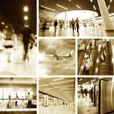 De post en de luchthaven van de metro stock afbeeldingen