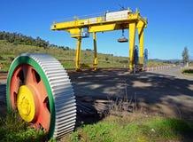 De post en het wiel van de logistiek Royalty-vrije Stock Foto