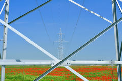 De post met hoog voltage Stock Foto