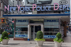 De Post NYPD regelt af en toe de Stad van New York Royalty-vrije Stock Foto's