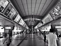 De post van Bangkok skytrain Stock Foto