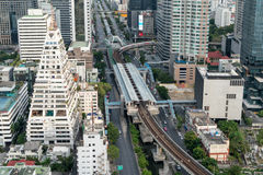 De post van Bangkok skytrain Royalty-vrije Stock Afbeelding