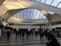 De post van BIRMINGHAM Grand Central en winkelcentrum & Nieuwe St Post stock afbeeldingen