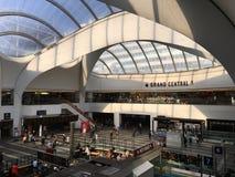 De post van BIRMINGHAM Grand Central en winkelcentrum & Nieuwe St Post stock foto