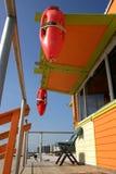 De post van de badmeester, het strand van Miami Stock Fotografie
