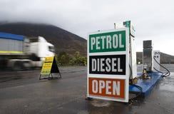De Post van de benzine Royalty-vrije Stock Afbeeldingen