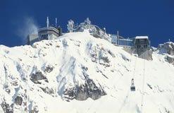 De Post van de berg van Zugspitze Royalty-vrije Stock Foto's