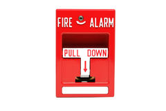 De Post van de brandalarmtrekkracht Stock Foto's