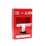 De Post van de brandalarmtrekkracht Stock Afbeeldingen