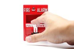 De Post van de brandalarmtrekkracht Royalty-vrije Stock Foto