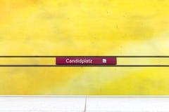 De post van de Candidplatzmetro Royalty-vrije Stock Foto