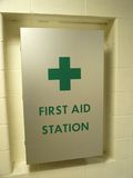 De Post van de eerste hulp stock foto's