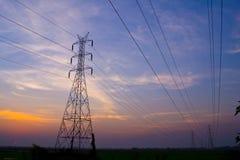 De post van de Elektriciteit Royalty-vrije Stock Foto's