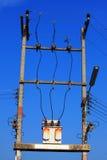 De post van de elektriciteit Stock Fotografie