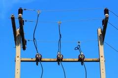 De post van de elektriciteit Royalty-vrije Stock Foto