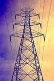 De post van de elektriciteit als uitstekende stijl Stock Foto's