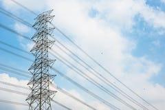 De post van de elektriciteit Stock Afbeeldingen