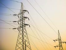 De post van de elektriciteitsvoeding Stock Foto