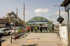 De post van de Eminönü tram Royalty-vrije Stock Afbeelding