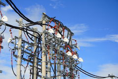 De Post van de Energie van de macht stock fotografie