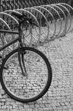 De post van de fiets Stock Foto