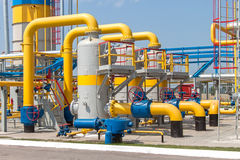 De post van de gascompressor Stock Afbeeldingen