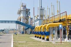 De post van de gascompressor Stock Afbeelding