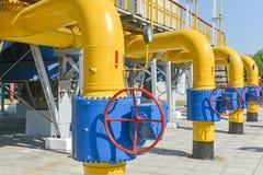 De post van de gascompressor Royalty-vrije Stock Foto