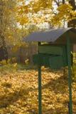 De post van de herfst Royalty-vrije Stock Foto's