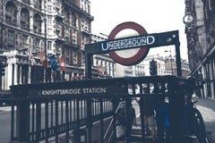 De Post van de Knightsbridgemetro Royalty-vrije Stock Afbeeldingen