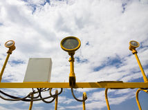 De post van de lamp Stock Foto's