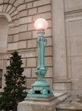 De post van de lamp Stock Afbeelding