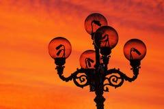 De post van de lamp Stock Afbeeldingen