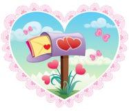 De Post van de liefde Stock Foto's