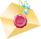 De post van de liefde Royalty-vrije Stock Afbeelding