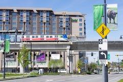 De Post van de Lijnskytrain Bridgeport van Canada stock fotografie