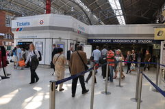 De Post van de Marylebonebuis in Londen, Engeland Stock Foto's