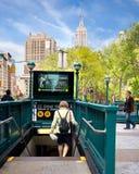 De Post van de Metro NYC Stock Afbeelding